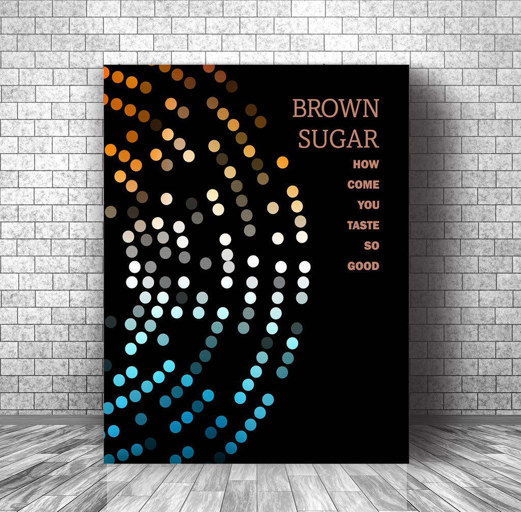 70s Classic Rock • Brown Sugar • Song Lyrics Art Poster