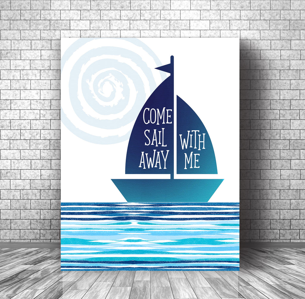 Classic Pop Music Song Lyric Art Poster Print - Come Sail Away by Styx