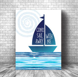 Canvas or Plaque Mount by Styx Inspired by Come Sail Away Song Lyrics