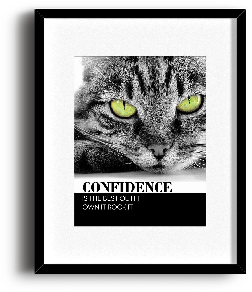 Inspirational Poster Art - Confidence is the Best Outfit Own It Rock It