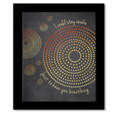 Don't Want to Miss a Thing by Aerosmith - Music Lyric Quote Print Art - Prints, Posters, Canvas or Plaque