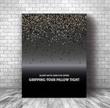 Music Poster Wall Song Lyric Hanging - Enter Sandman by Metallica