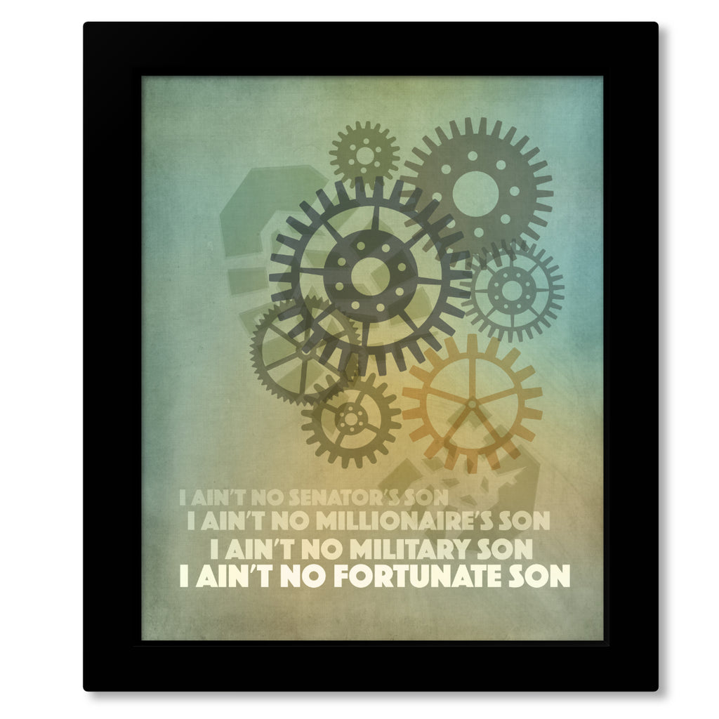 Fortunate Son - Credence Clearwater Revival - Song Lyric Music Art