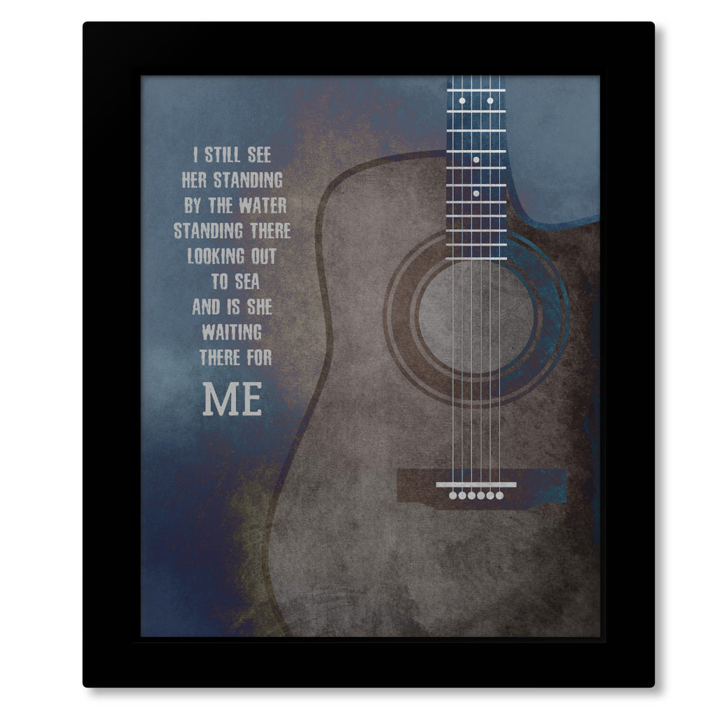 Galveston by Glen Campbell - Country Rock Music Artwork Wall Print, Poster, Canvas or Plaque