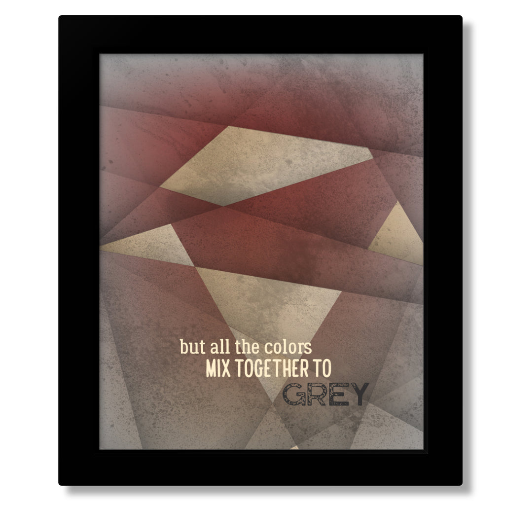 Grey Street by the Dave Matthews Band - Music Poster of Classic Rock Song Lyrics