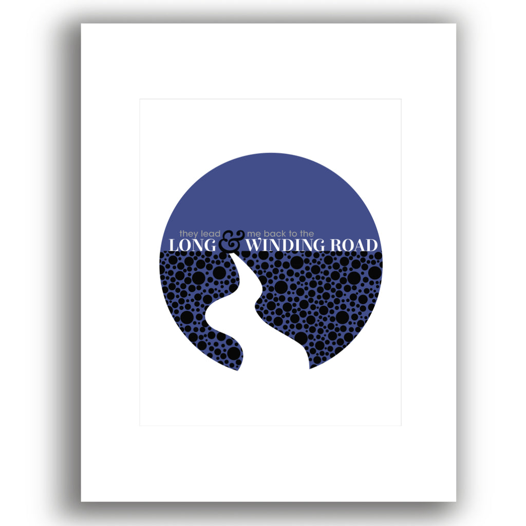 Long and Winding Road Song Lyric Poster by the Beatles