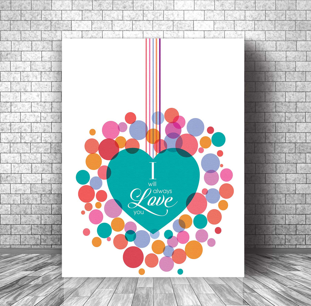 Wedding Song Lyric Art Print Poster - Love Song by The Cure
