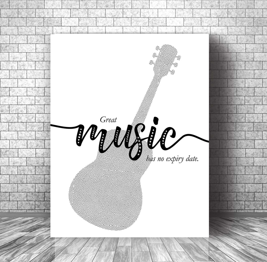 Inspired Meme Saying Artwork - Great Music Has No Expiry Date - Typographic Wall Decor Print
