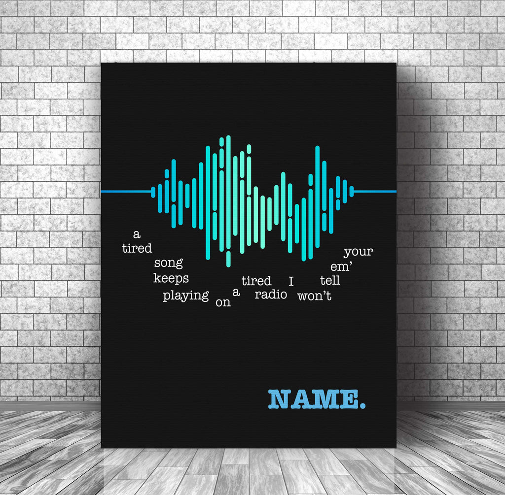 Song Lyrics Art Poster Music Quote Print - Name by Goo Goo Dolls