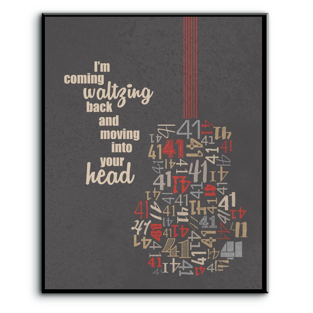 Dave Matthews Band - No 41 Number - Music Lyrics Inspired Poster Art