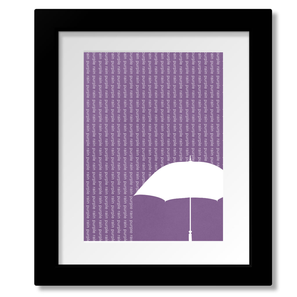 purple rain prince song lyric wall décor music poster