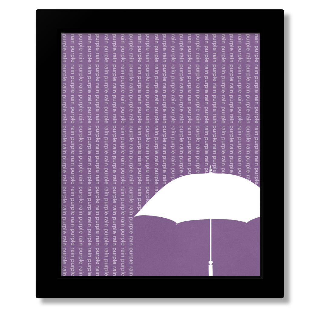 purple rain by prince song lyric wall décor music poster