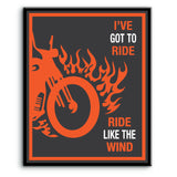 Ride Like the Wind by Christopher Cross - Lyrically Inspired Music Song Art - Poster, Print, Canvas or Plaque