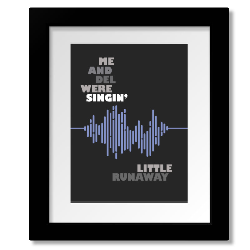 Framed and Matted Song Lyrics Art