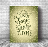 Song Lyric Wall Art Print - Scarborough Fair by Simon and Garfunkel