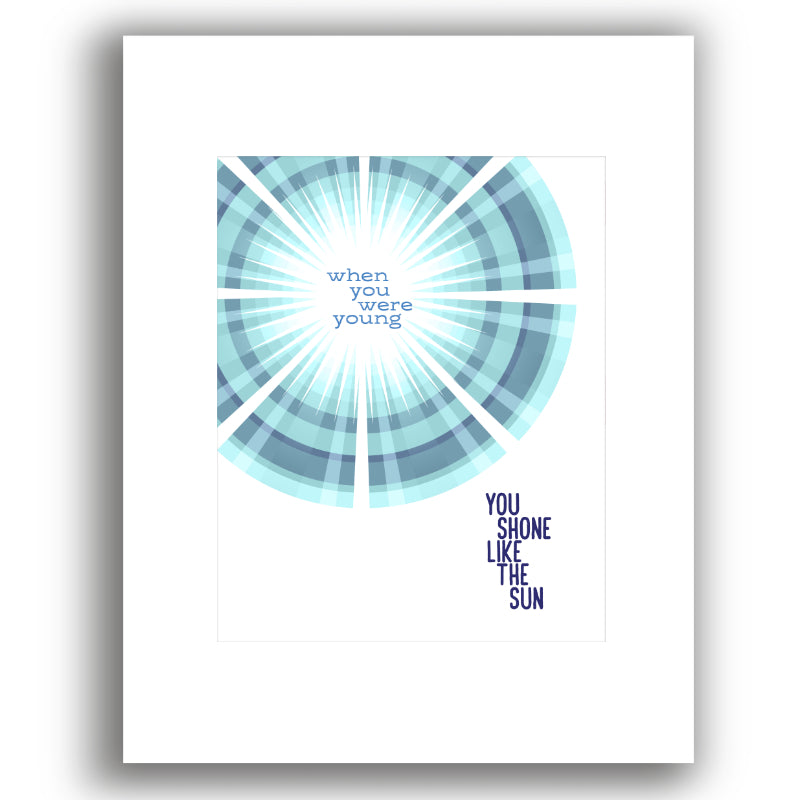 Shine on Crazy Diamond by Pink Floyd - Music Enthusiast Song Lyric Quote - Print, Poster, Canvas or Plaque