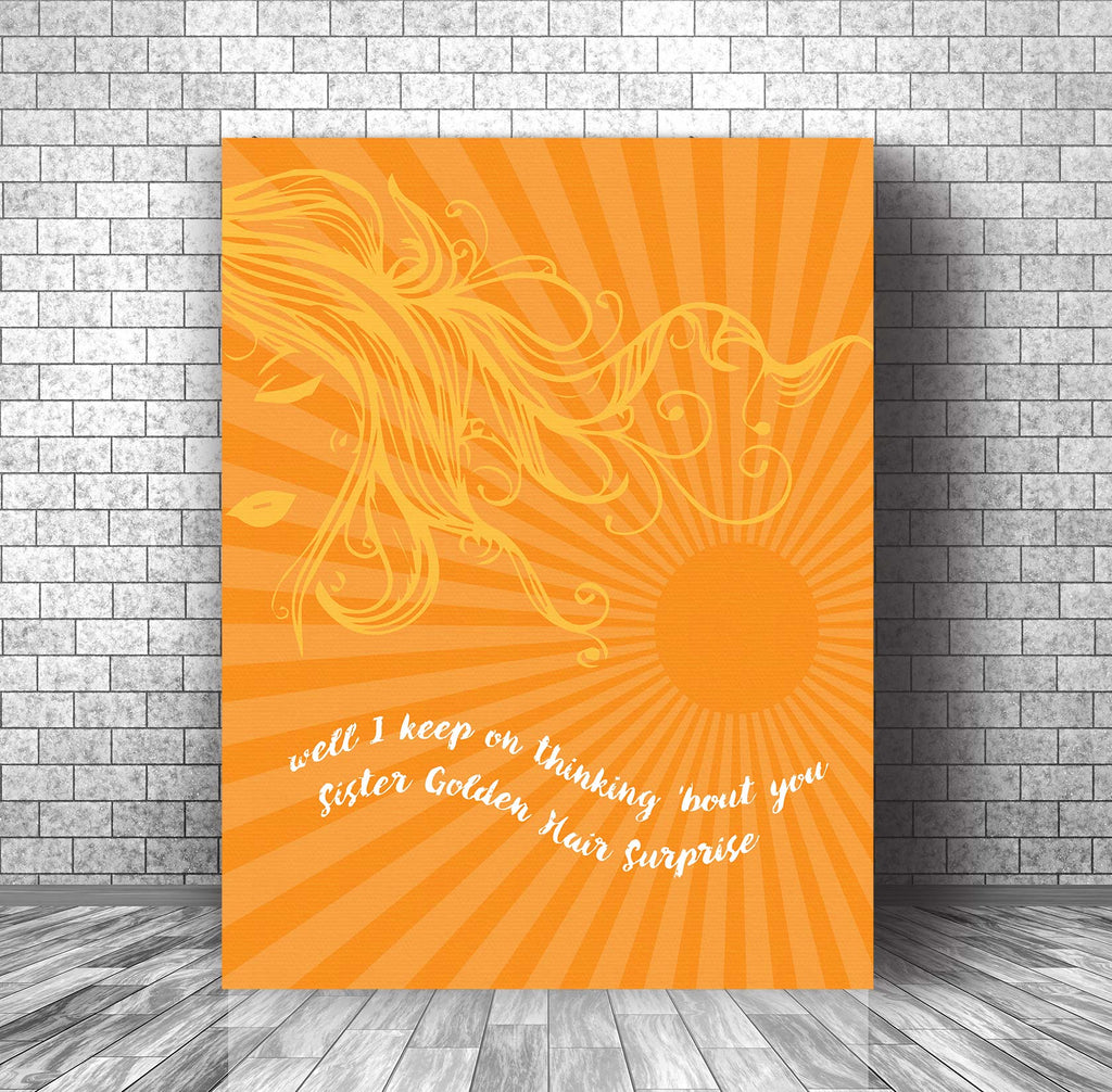 Lyrically Inspired Wall Art - Sister Golden Hair by America Band