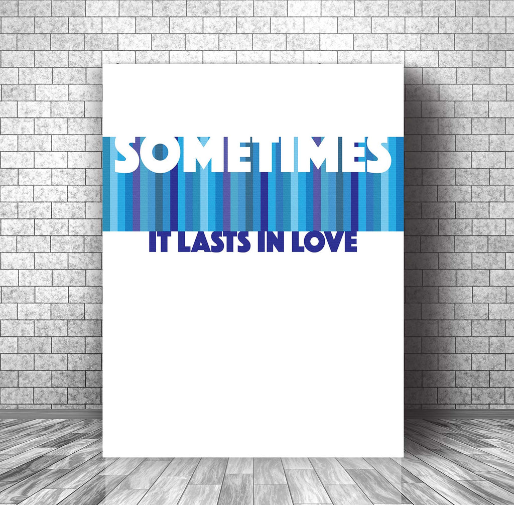 Lyrically Inspired Song Art Music Poster - Someone Like You by Adele