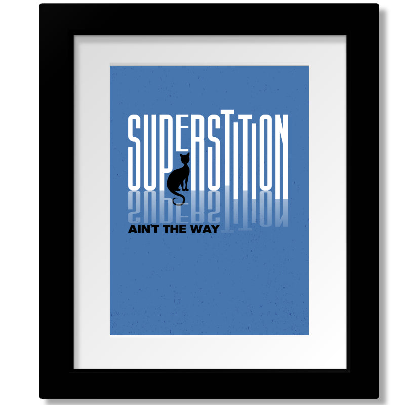 Superstition by Stevie Wonder Song Lyric Music Poster Print Wall Art