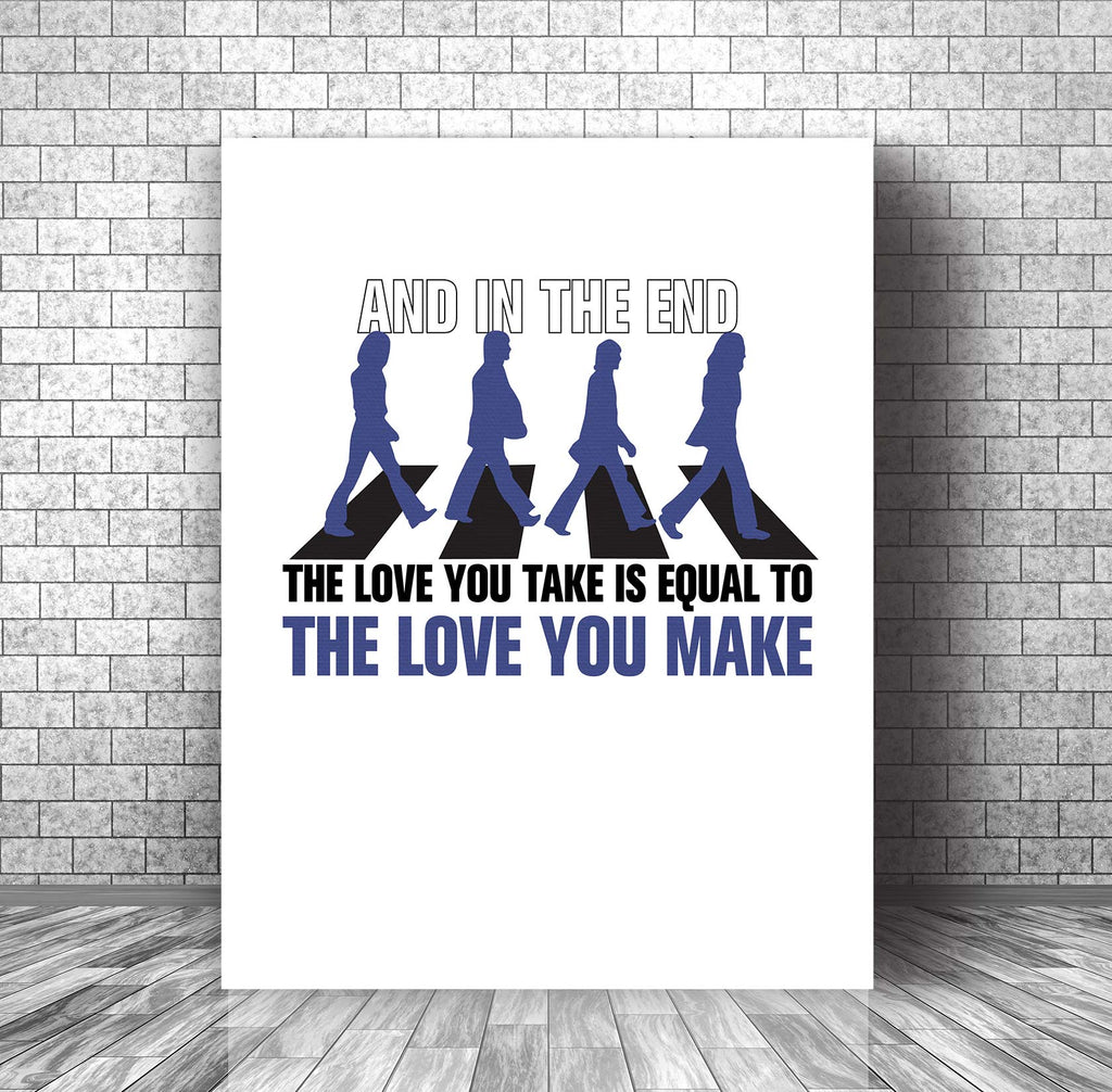The End by the Beatles Song Lyric Music Visual Print Wall Decor Print