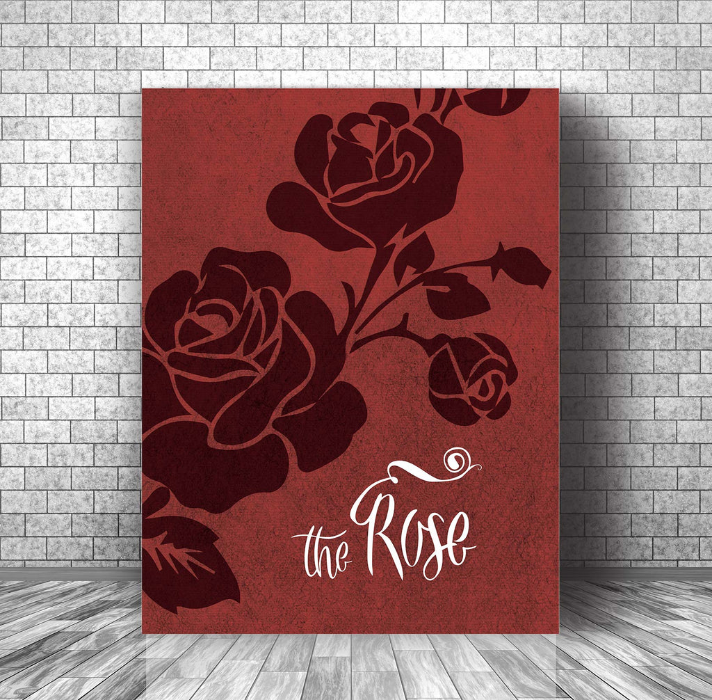 Lyrically Inspired Music Song Poster Art - The Rose by Bette Midler