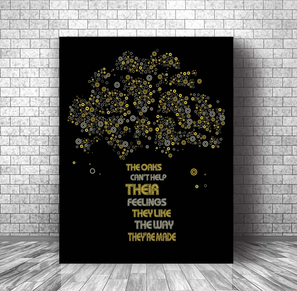 Lyrically Inspired Art Song Lyric Music Poster - The Trees by Rush