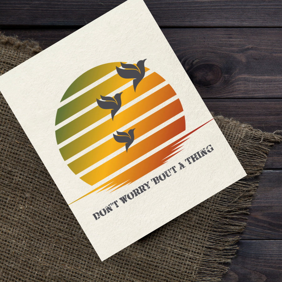 three little birds by Bob Marley Song Lyrics Art Poster Print Wall Hanging
