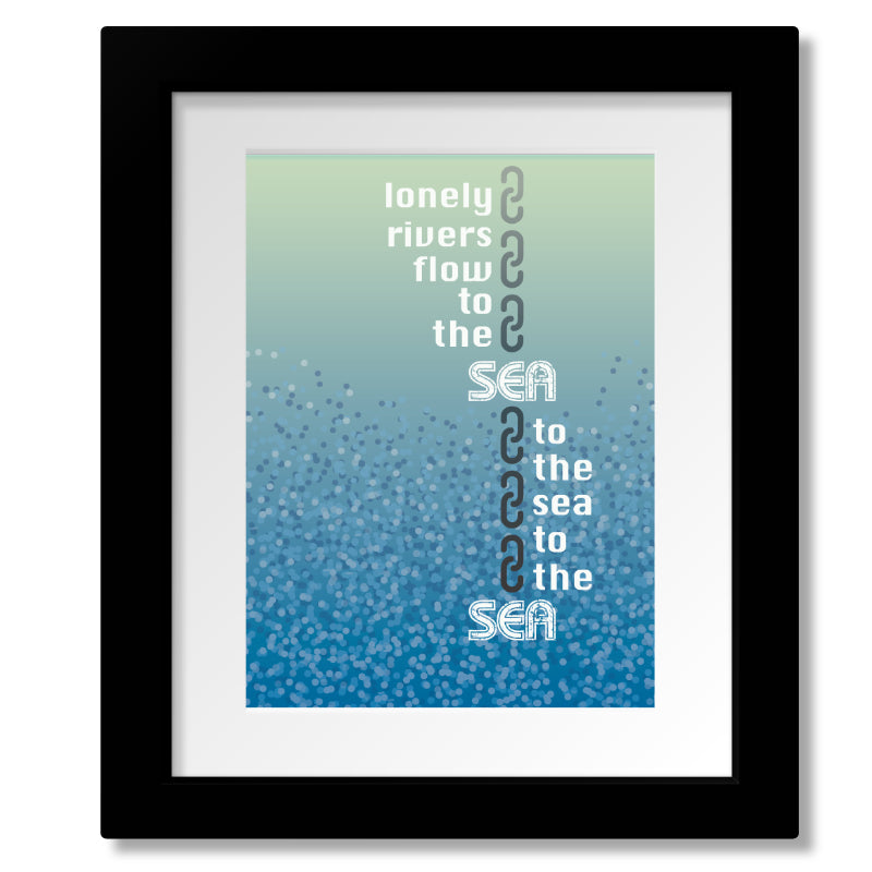 Unchained Melody by Righteous Brothers - Love Song Lyric Print, Poster, Canvas or Plaque Art