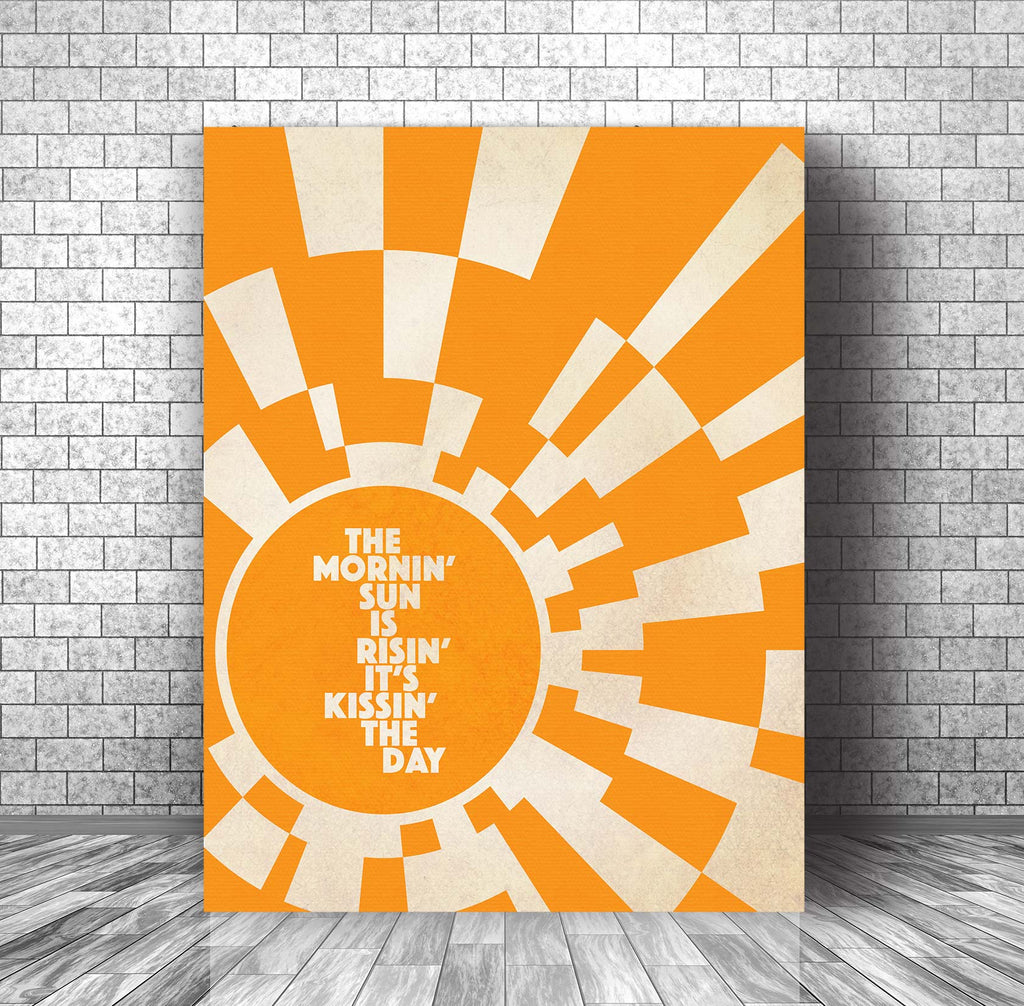 Song Lyrics Music Quote Art Poster Canvas - Wheel in the Sky by Journey
