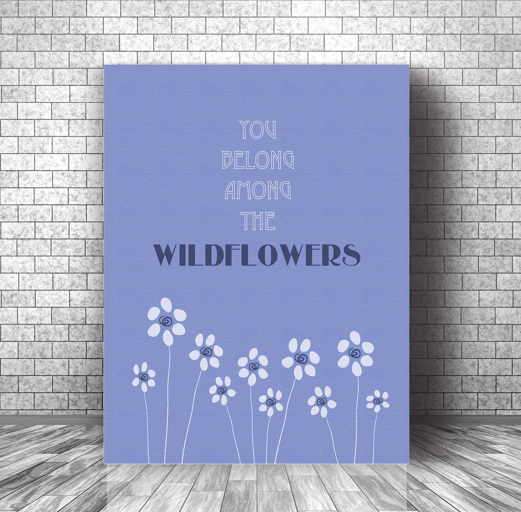 Wildflowers by Tom Petty - Music Poster Wall Decor - Song Lyric Art Print