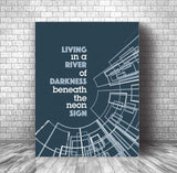 You Belong to the City by Glenn Frey Song Lyric Art Print Poster Wall Decor Music Quote