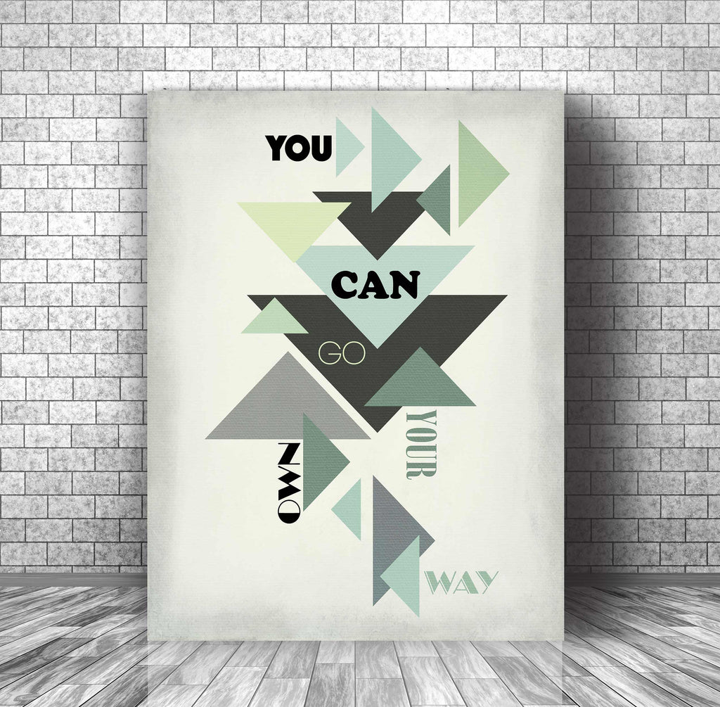 Music Lyric Art Poster Wall Print - Go Your Own Way by Fleetwood Mac