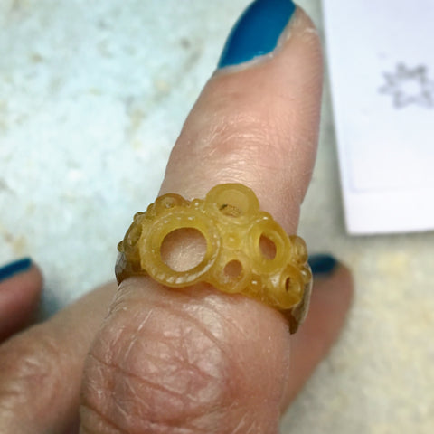 wax model for Lisa's wedding ring complete