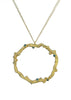 Diadem pendant necklace from the Tatiana collection in 18k gold with multi-color diamonds, Heather Perry