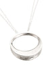 Ellipse Round Pendant necklace from Eternity collection, sterling silver, Heather Perry