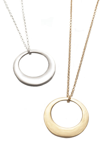 Ellipse Necklace from Eternity collection in silver and gold, Heather Perry