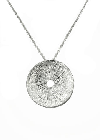 Helio Pendant necklace from Eternity collection, sterling silver, Heather Perry