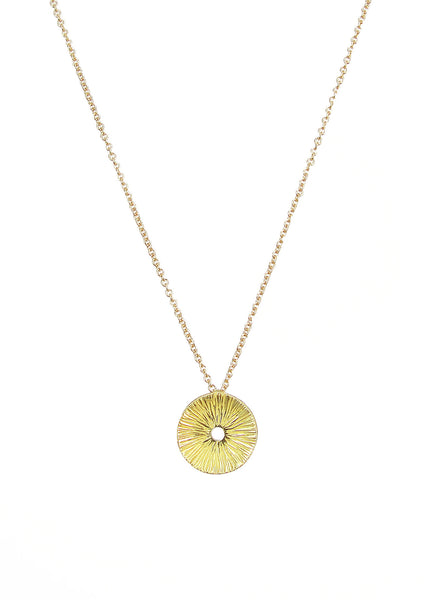Helio Pendant necklace from Eternity collection, gold, Heather Perry