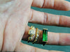 Tatian's Dream Engagement Ring, WoodSprite Stacking Band, custom Maine tourmaline ring, gold, diamonds, Heather Perry