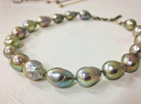 Pearl choker necklace, Heather Perry winter special
