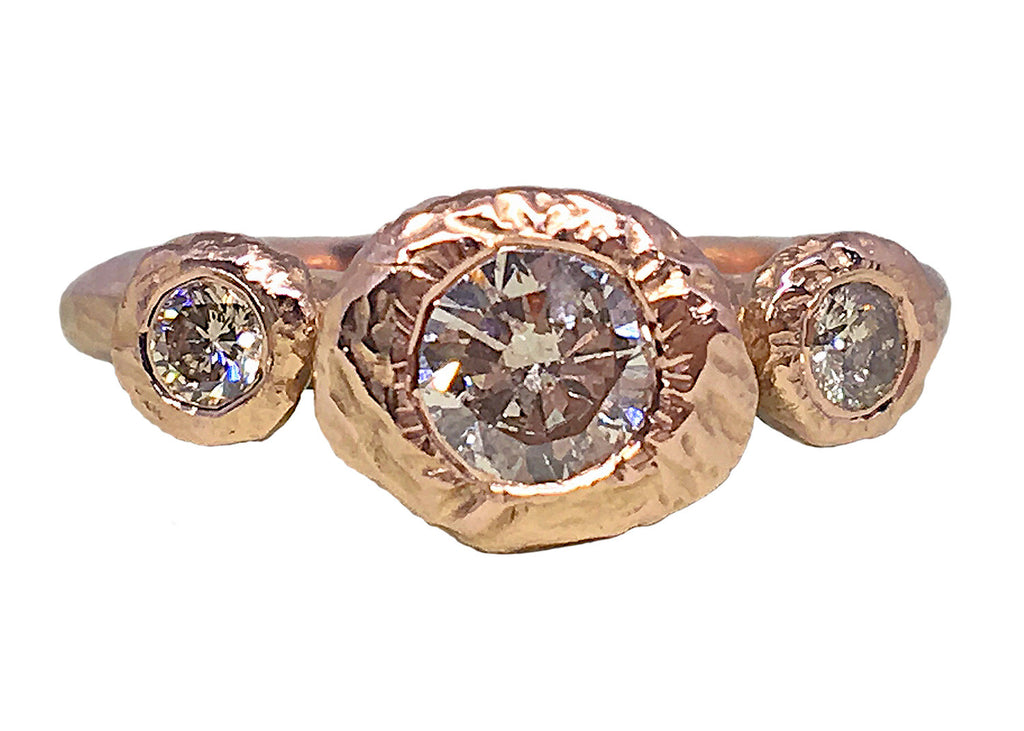 Tatiana's Dream Engagement Ring, rose gold, champagne diamonds, Heather Perry