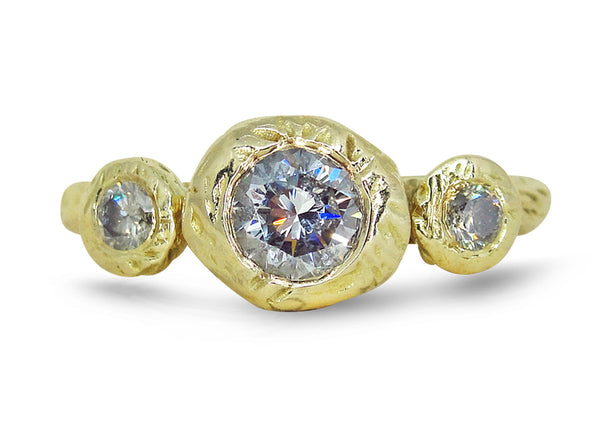 Tatiana's Dream Engagement Ring, yellow gold, diamonds, Heather Perry