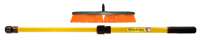 Telescopic Stiff Bristle  Push Broom 2 to 4 foot
