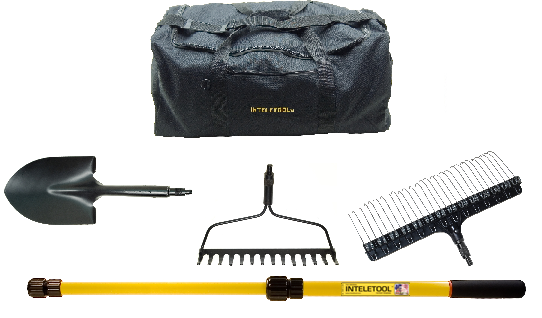 Telescopic Lawn and Garden Tool Kit with Duffel Bag