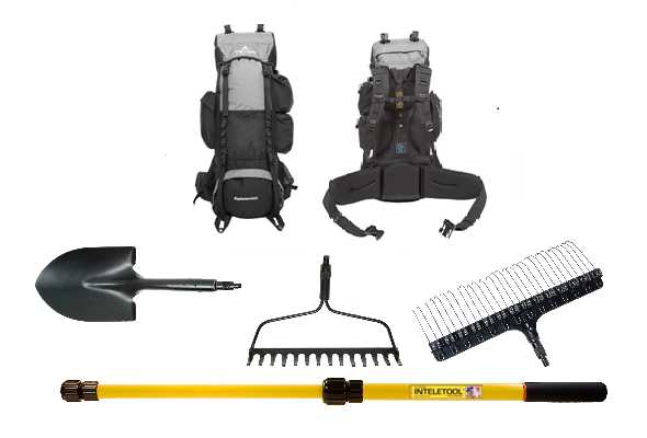 Telescopic Gardening Tool Kit with Backpack