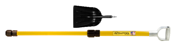 Telescopic Poly Scoop Shovel with D Grip 2 to 4 foot
