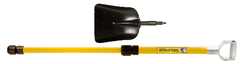 Telescopic Steel Scoop Shovel with D Grip 2 to 4 foot