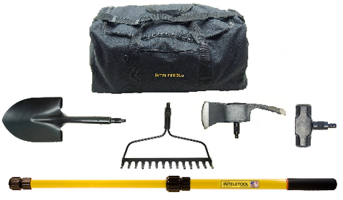 Telescopic Vehicle Recovery Tool Kit with Duffel Bag (Sheath included)