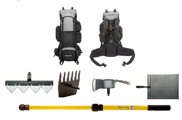 Telescopic Wildfire Fighting Tool Kit with Backpack (Sheaths included)