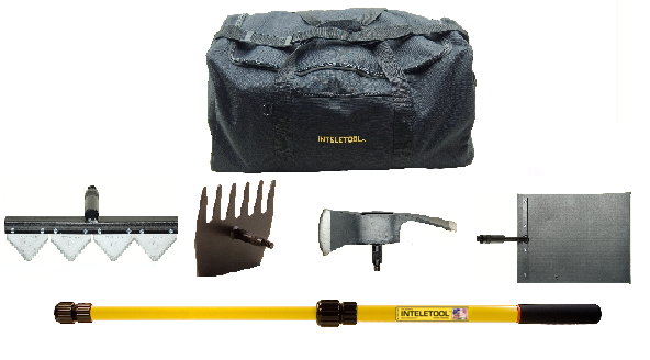 IWFP Inteletool Telescopic Wildfire Fighting Tool Kit with sheaths and Duffel Bag